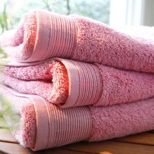 ÉPONGE UNIE BOIS DE ROSE 100% micro-coton