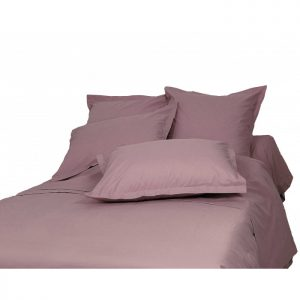 DRAP HOUSSE 140 X 190 PERCALE UNI PRUNE